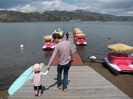 山中湖ボート乗り場