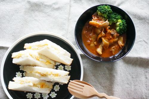玉子サンド&スープ