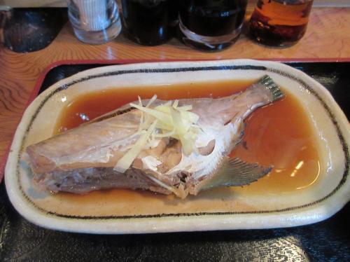 女将の煮魚 皮ハギ