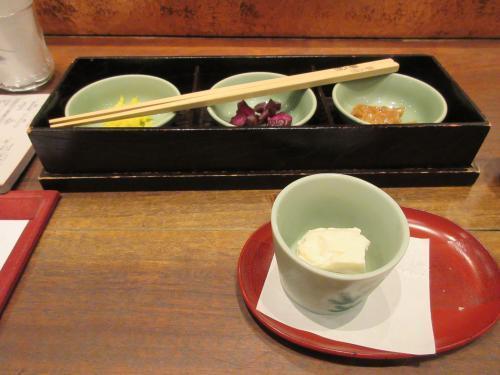 お新香と寄せ豆腐