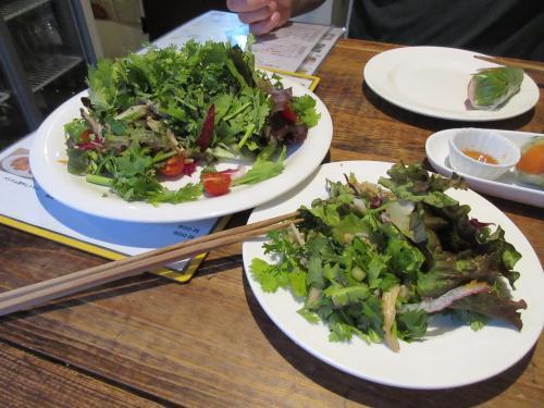 どっさりパクチーと木の子サラダ