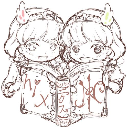 20170525看板双子プロフィ-ル絵-下書き