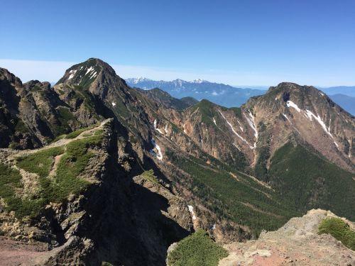 赤岳と南アルプス