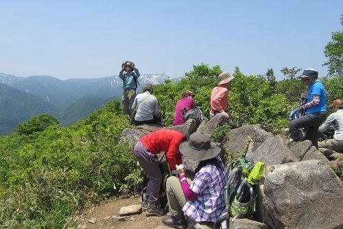 松手山にて