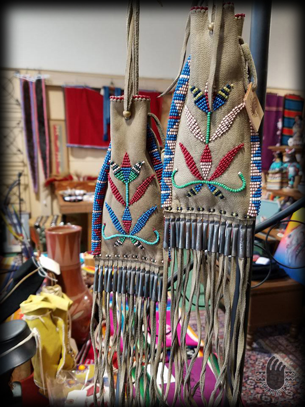 beaded pouches in water bird gallery