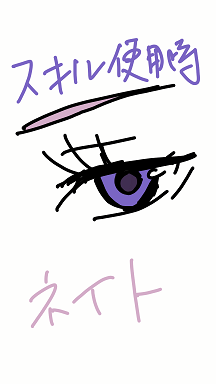 スキル使用時 ネイト 瞳