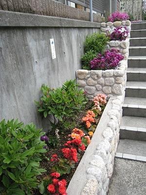 神港学園の花壇