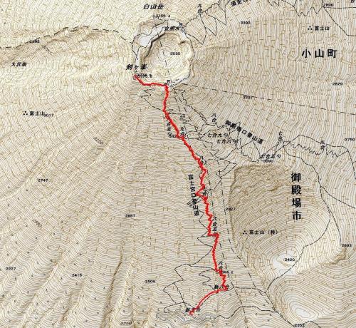 170614 富士山軌跡