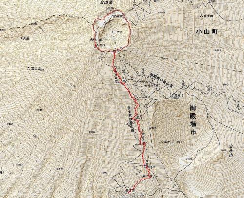 170629 富士山軌跡