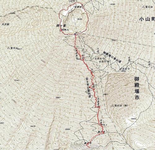 170707 富士山軌跡