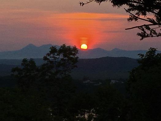 阿寒連山夕陽