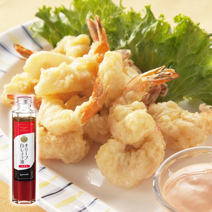 海老フリッターのオリーブ白醤油マヨ