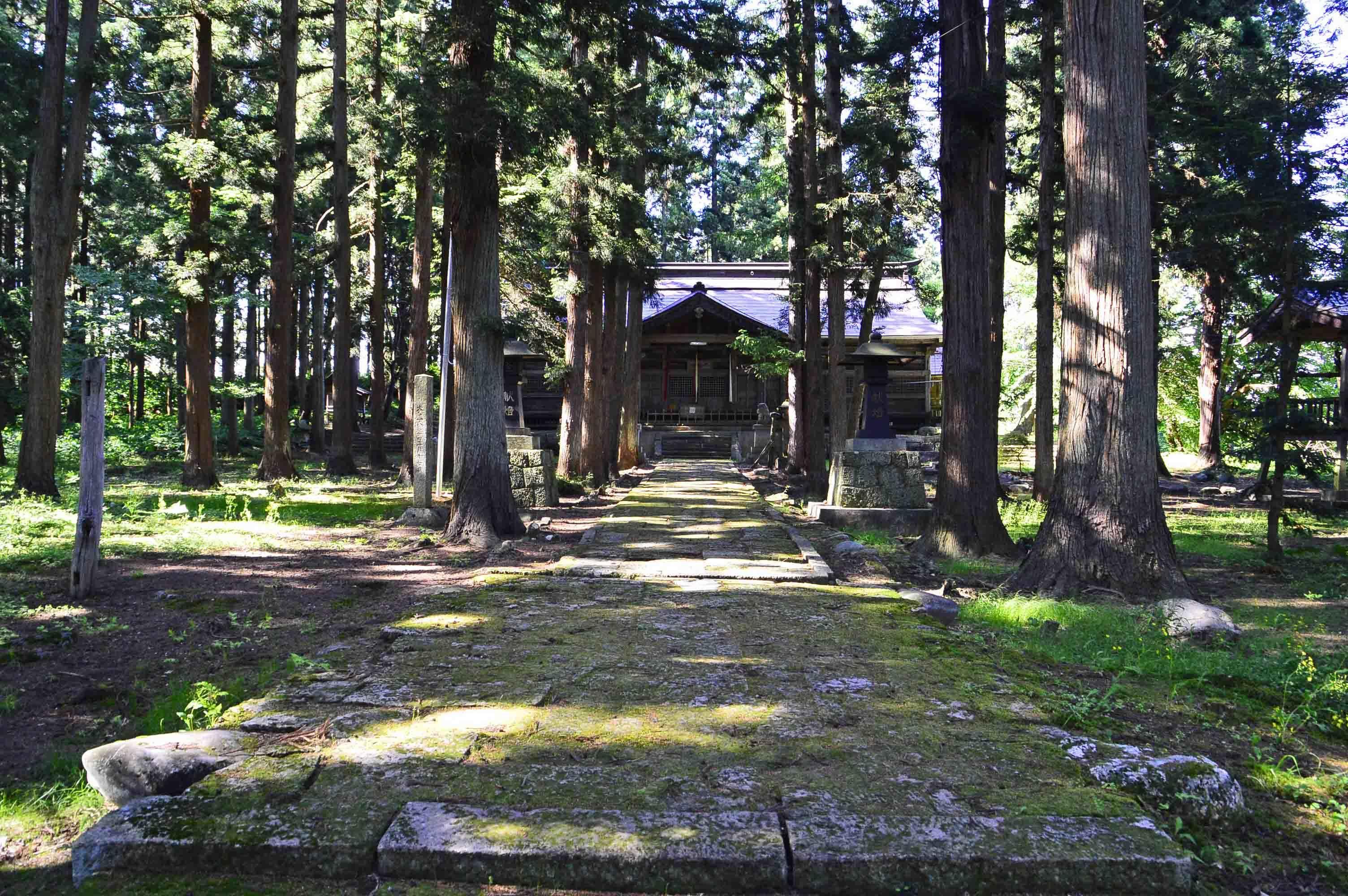 成島館 成島神社も境内が主郭