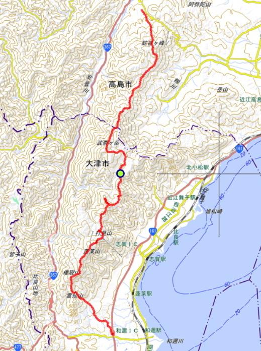 比良山系全山縦走 (2)
