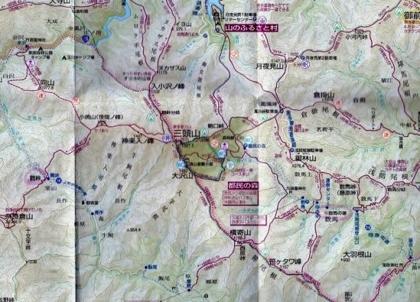 三頭山MAP