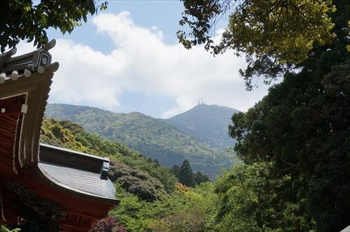 4本堂から筑波山
