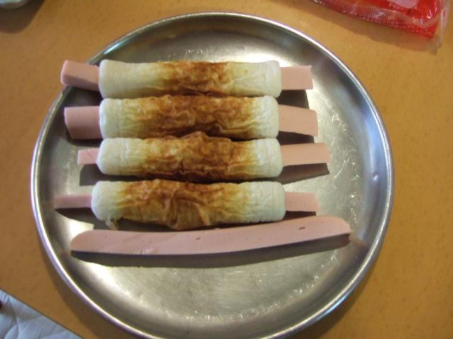 魚肉ソーセージのちくわ揚げ丼