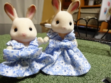 ママと娘のサマードレス、前