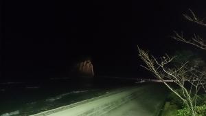珠洲温泉 のとじ荘、部屋からの眺望、夜景