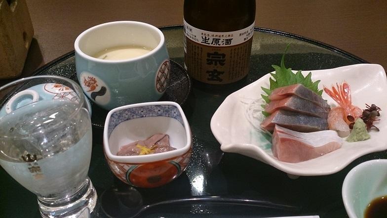 珠洲温泉 のとじ荘、夕食料理1