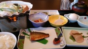 珠洲温泉 のとじ荘、朝食メニュー。