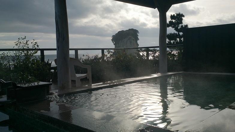 珠洲温泉 のとじ荘、絶景露天風呂。