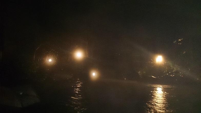 ひらゆの森、夜の露天風呂