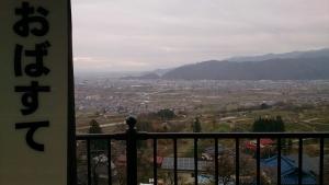 JR篠ノ井線姨捨駅ホームからの眺望。