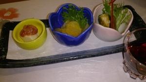 ホテルベルリーフ大月、夕食料理1