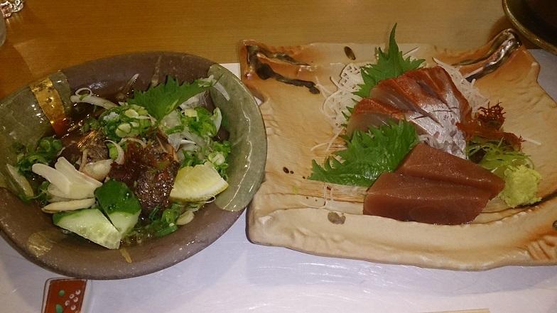 ホテルベルリーフ大月、夕食料理2