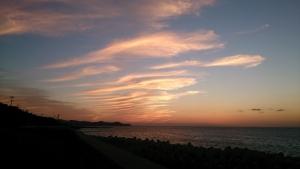 淡路島。夕日を追いかけて。
