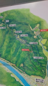 備中松山城址、案内図