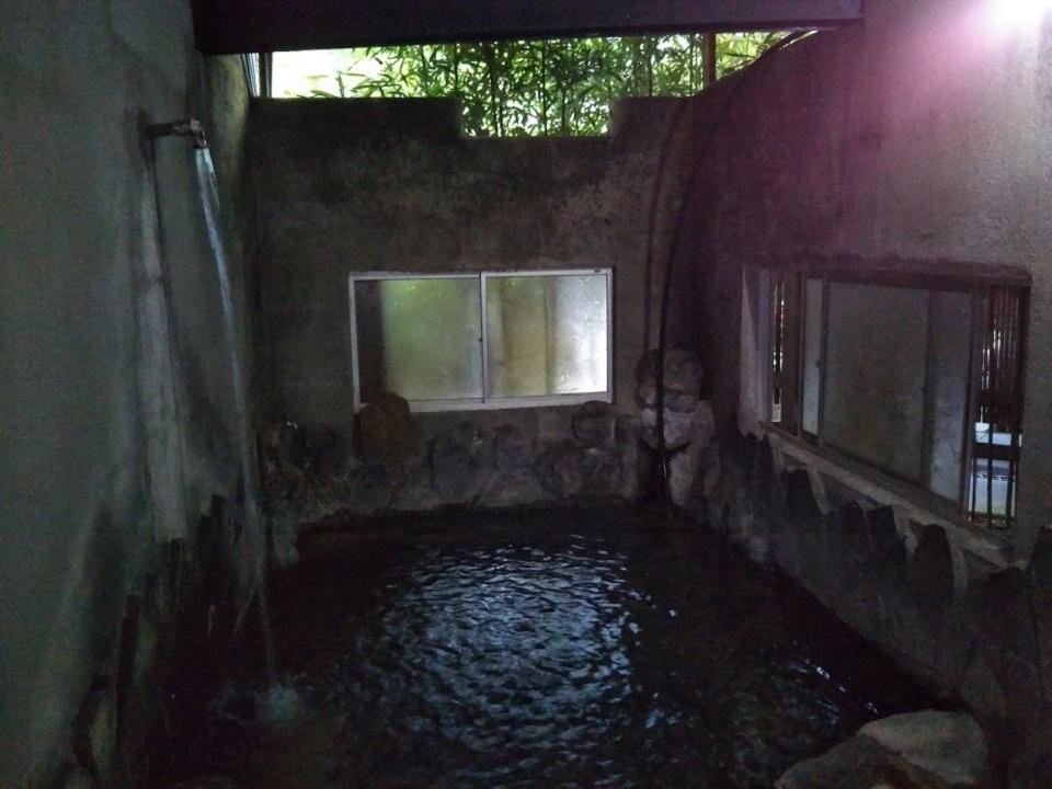 民宿たから温泉、貸切風呂、打たせ湯