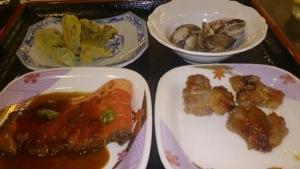 松乃井 夕食 バイキング料理1