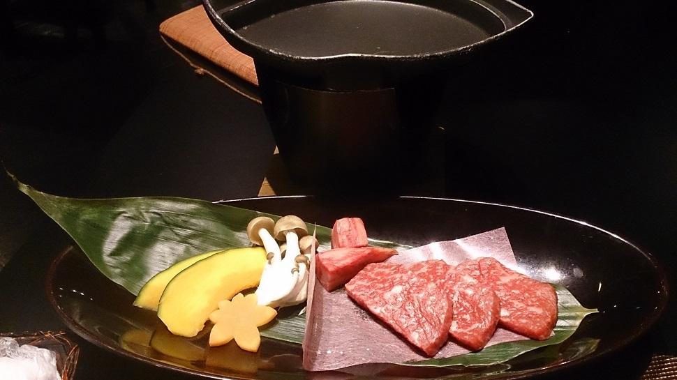 くつろぎ宿新滝 夕食料理 鉄板焼き1