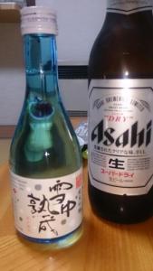 旅館いづみ荘 大瓶ビールと地酒冷酒