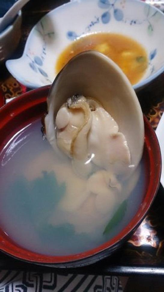 旅館いづみ荘 夕食料理 蛤のすまし汁