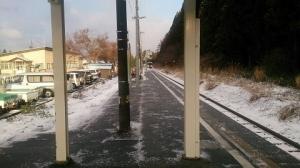 赤倉温泉駅ホーム。