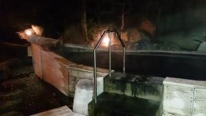 水軍の宿 大浴場 露天風呂 夜