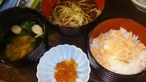ホテル羅賀荘 夕食料理 飯もの、蕎麦、吸物