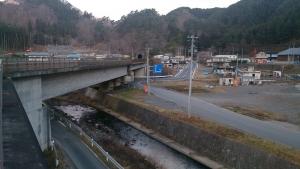 田野畑駅付近