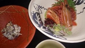 山水閣 夕食料理1