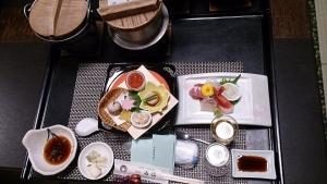 旅館喜仙 夕食料理1