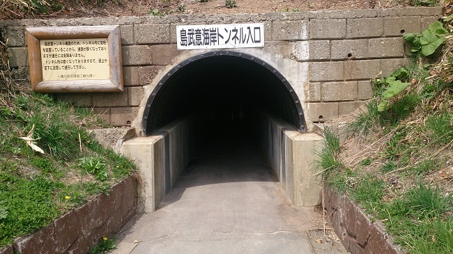 島武意海岸 トンネル