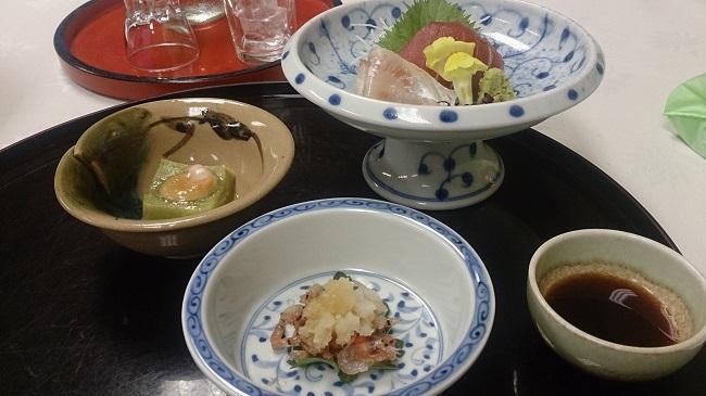 菊水館 夕食料理1