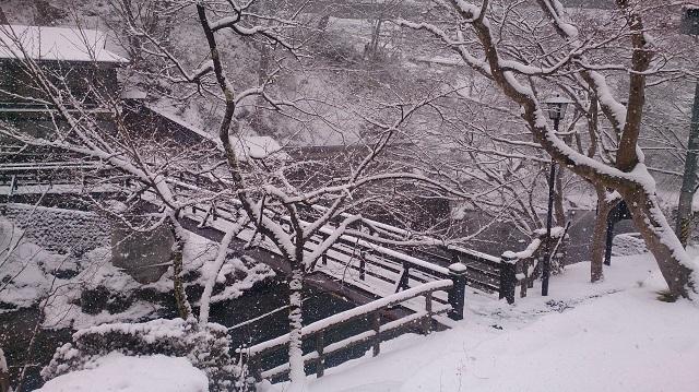 大沢温泉 雪景色