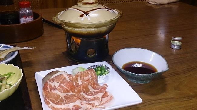 夕食 豚しゃぶしゃぶ鍋