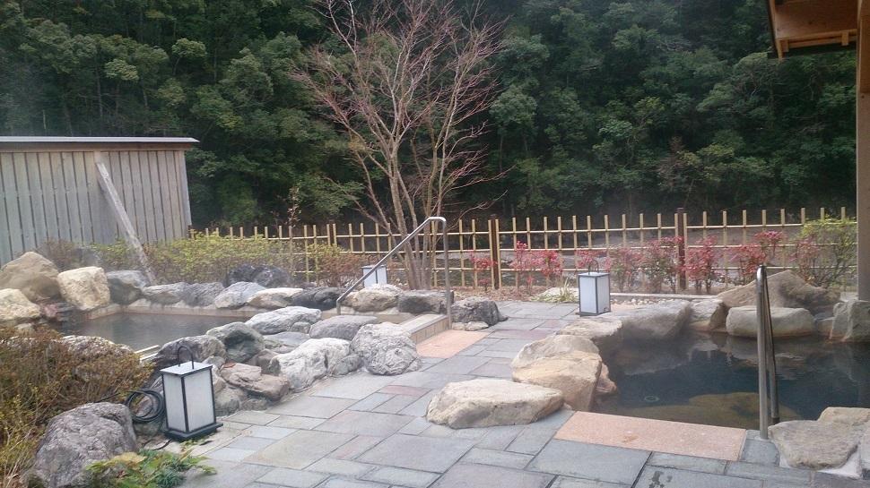 静響の宿 山水 大浴場 露天風呂
