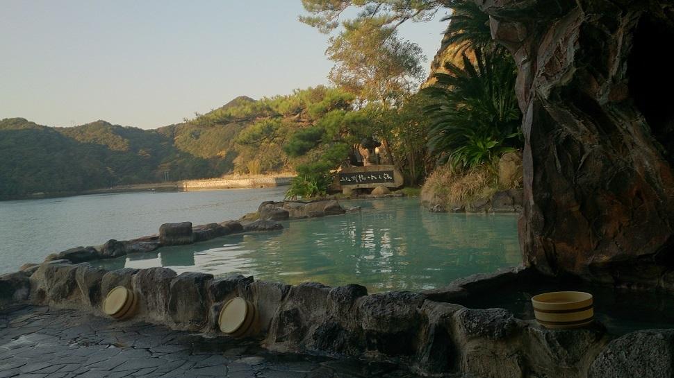 中の島 露天風呂1
