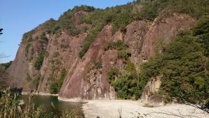 古座川峡 一枚岩